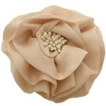 Saten Ribbon, with Plastike Pearl, asnjë, asnjë, bezh, 100x100mm, 24PC/Shumë,  Shumë