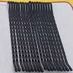 Slide flokët, Alloy zink, Shape Tjera, pikturë, asnjë, e zezë, , nikel çojë \x26amp; kadmium falas, 50x2mm, 70Çanta/Shumë, approx 32pcs/bag,  Shumë