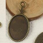 Zink Alloy varëse Setting, Alloy zink, Oval Flat, Ngjyra antike bronz i praruar, asnjë, asnjë, , nikel çojë \x26amp; kadmium falas, 30x15.50mm, : 2mm, 400PC/Qese,  Qese