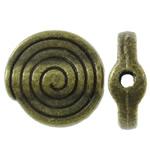 Beads bizhuteri Alloy zink, Shape Tjera, Ngjyra antike bronz i praruar, asnjë, asnjë, , nikel çojë \x26amp; kadmium falas, 10.50x11x4mm, : 1mm, 710PC/KG,  KG