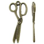 Pendants Zink Alloy Tool, Alloy zink, Gërshërë, Ngjyra antike bronz i praruar, asnjë, asnjë, , nikel çojë \x26amp; kadmium falas, 13x29.50x2mm, : 1mm, 1000PC/KG,  KG