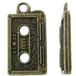Pendants Zink Alloy, Alloy zink, Shape Tjera, Ngjyra antike bronz i praruar, asnjë, asnjë, , nikel çojë \x26amp; kadmium falas, 12x23x3mm, : 2.5mm, 470PC/KG,  KG