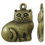 Pendants Zink Alloy Kafshëve, Alloy zink, Mace, Ngjyra antike bronz i praruar, asnjë, asnjë, , nikel çojë \x26amp; kadmium falas, 16x19x2.50mm, : 1.5mm, 1000PC/KG,  KG
