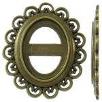 Cilësimet Zink Alloy Cabochon, Alloy zink, Oval Flat, Ngjyra antike bronz i praruar, asnjë, asnjë, , nikel çojë \x26amp; kadmium falas, 24.50x28x2mm, 370PC/KG,  KG