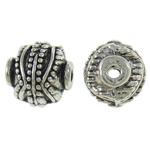 Beads bizhuteri Alloy zink, Fanar, Ngjyra antike argjendi praruar, asnjë, asnjë, , nikel çojë \x26amp; kadmium falas, 10x10x9mm, : 2mm, 430PC/KG,  KG