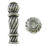 Beads bizhuteri Alloy zink, Shape Tjera, Ngjyra antike argjendi praruar, asnjë, asnjë, , nikel çojë \x26amp; kadmium falas, 6x22mm, : 2mm, 310PC/KG,  KG