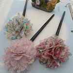 Stick flokët, with ABS plastike, Lule, asnjë, asnjë, ngjyra të përziera, 180x65mm, 20PC/Shumë,  Shumë