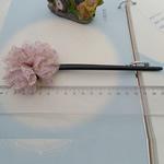 Stick flokët, with ABS plastike, Lule, asnjë, asnjë, purpurtë drita, 180x65mm, 20PC/Shumë,  Shumë