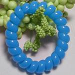 Elastike Hair, Plastik, Shape Tjera, elastik, asnjë, dritë blu, 5mm, 130PC/Shumë,  Shumë