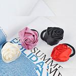 Bisht mbajtës, Saten Ribbon, with Gomë, Lule, elastik, asnjë, ngjyra të përziera, 30x30mm, 3mm, 50PC/Shumë,  Shumë