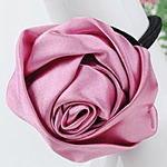 Bisht mbajtës, Saten Ribbon, with Gomë, Lule, elastik, asnjë, rozë, 30x30mm, 3mm, 50PC/Shumë,  Shumë