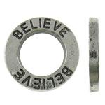 Alloy zink Lidhja Ring, Round, Ngjyra antike argjendi praruar, asnjë, asnjë, , nikel çojë \x26amp; kadmium falas, 14.5x1.5mm, : 8mm, 830PC/KG,  KG