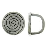 Qepje Button, Alloy zink, Monedhë, Ngjyra antike argjendi praruar, asnjë, asnjë, , nikel çojë \x26amp; kadmium falas, 14x10mm, : 7x10mm, 620PC/KG,  KG