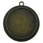 Zink-Legierung Cabochon Weissgold, Zinklegierung, flache Runde, antike Bronzefarbe plattiert, frei von Nickel, Blei & Kadmium, 38x38mm, Bohrung:ca. 2mm, Innendurchmesser:ca. 30mm, 50PCs/Tasche, verkauft von Tasche