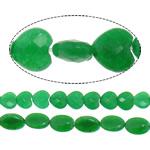 Marmor Naturperlen, gefärbter Marmor, grün, 10-14x8-10x5-5mm, Bohrung:ca. 1-2mm, ca. 28PCs/Strang, verkauft per ca. 16 ZollInch Strang