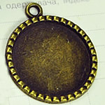 Zink-Legierung Cabochon Weissgold, Zinklegierung, flache Runde, antike Bronzefarbe plattiert, frei von Nickel, Blei & Kadmium, 30mm, Bohrung:ca. 2mm, Innendurchmesser:ca. 25mm, 100PCs/Tasche, verkauft von Tasche
