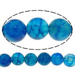 Natürliche Drachen Venen Achat Perlen, Drachenvenen Achat, rund, blau, 8mm, Bohrung:ca. 1mm, Länge:ca. 15 ZollInch, 20SträngeStrang/Menge, 48PCs/Strang, verkauft von Menge