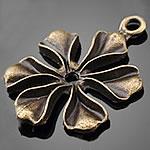 Zinklegierung Blume Anhänger, antike Bronzefarbe plattiert, frei von Nickel, Blei & Kadmium, 21x29mm, Bohrung:ca. 1.5-3mm, 500PCs/Tasche, verkauft von Tasche