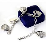 Edelstahl Schmuck Armband, Armband  Bettelarmband & Oval-Kette, originale Farbe, 20x26mm, Länge:ca. 8 ZollInch, 5SträngeStrang/Tasche, verkauft von Tasche