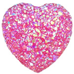 Glitter Resin Cabochon, Heart, flat back, more colors for choice, 14x14x3.5mm, Sold By PC