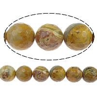 Natürliche verrückte Achat Perlen, Verrückter Achat, rund, facettierte, 16mm, Bohrung:ca. 2mm, Länge:ca. 15 ZollInch, 5SträngeStrang/Menge, ca. 24PCs/Strang, verkauft von Menge