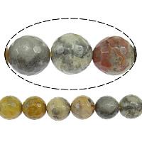Natürliche verrückte Achat Perlen, Verrückter Achat, rund, facettierte, 10mm, Bohrung:ca. 1mm, Länge:ca. 15 ZollInch, 5SträngeStrang/Menge, ca. 38PCs/Strang, verkauft von Menge