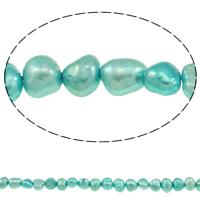Barock kultivierten Süßwassersee Perlen, Natürliche kultivierte Süßwasserperlen, hellblau, 4-5mm, Bohrung:ca. 0.8mm, verkauft per ca. 15 ZollInch Strang