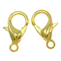 Zinc Alloy Lobster Clasp, gold color plated, nickel, lead & cadmium free, A Grade, 12mm, 1000PCs/Bag, Sold By Bag