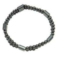 Hematite Bracelet, different styles for choice, A Grade, 4x10mm, Sold Per 7.5 Inch Strand
