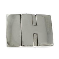 Edelstahl Magnetverschluss, Rechteck, originale Farbe, 24x15x8mm, Bohrung:ca. 12x5mm, 10PCs/Menge, verkauft von Menge
