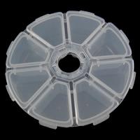Schmuck Nagelkasten, Kunststoff, Achteck, transluzent, weiß, frei von Nickel, Blei & Kadmium, 10.5x2.7cm, verkauft von PC