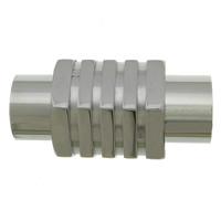 Edelstahl Magnetverschluss, 304 Edelstahl, originale Farbe, 20x9.50x9mm, Bohrung:ca. 5mm, 50PCs/Menge, verkauft von Menge