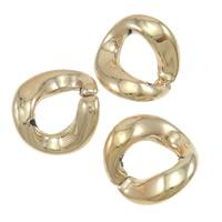 Acryl Verbindungsring, Twist, Rósegold-Farbe plattiert, 23x22.50mm, 300PCs/Tasche, verkauft von Tasche