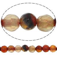 Natürliche traumhafte Achat Perlen, Traumhafter Achat, rund, facettierte, 4mm, Bohrung:ca. 0.8-1mm, Länge:ca. 14.5 ZollInch, 20SträngeStrang/Menge, 92PCs/Strang, verkauft von Menge