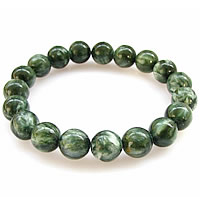 Seraphinite Bracelet, with Elastic Thread, Round, natural, different size for choice & smooth, Sold Per Approx 7.5 Inch Strand