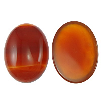 Red Agate Cabochon, Oval, more sizes for choice & flat back, Sold By PC