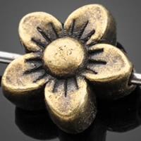 Zinklegierung Blumenperlen, antike Bronzefarbe plattiert, frei von Nickel, Blei & Kadmium, 8.20x3mm, Bohrung:ca. 1mm, 1000PCs/Tasche, verkauft von Tasche