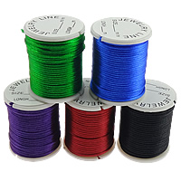 Nylon Cord, without elastic, Korea Imported, mixed colors, 1.5mm, Length:10 m, 10PCs/Bag, Sold By Bag