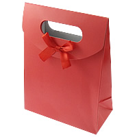 Paper Gift Bag, with Satin Ribbon, more colors for choice, 125x165x60mm, 960PCs/Lot, Sold By Lot