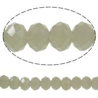 Klasse AA Kristallperlen, Kristall, Rondell, facettierte & AA grade crystal, hellgrau, 8x6mm, Bohrung:ca. 1mm, Länge:ca. 17.7 ZollInch, 10SträngeStrang/Tasche, verkauft von Tasche