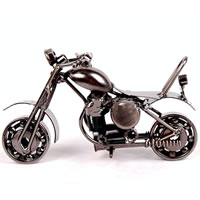 Iron Craft Motorcycle Model, plumbum black color plated, nickel, lead & cadmium free, 140x55x75mm, 50PCs/Bag, Sold By Bag