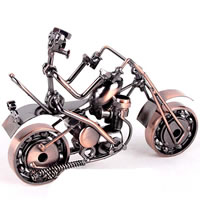 Iron Craft Motorcycle Model, antique copper color plated, nickel, lead & cadmium free, 180x70x120mm, 30PCs/Bag, Sold By Bag