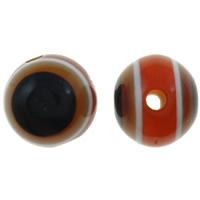 Harz Evil Eye Perlen, rund, Streifen, 8mm, Bohrung:ca. 2mm, 1000PCs/Tasche, verkauft von Tasche