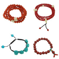 Synthetic Coral Bracelets