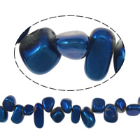 Colorful Plated Quartz Beads, Natural Quartz, Nuggets, 7-10x10-15x6-8mm, Hole:Approx 1mm, 52PCs/Strand, Sold Per Approx 16 Inch Strand