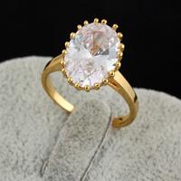 Gets® Finger Ring, Messing, 18 K vergoldet, mit kubischem Zirkonia, frei von Nickel, Blei & Kadmium, 15mm, Größe:8, verkauft von PC