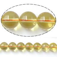 Natürlicher Citrin Perlen, Gelbquarz Perlen, rund, November Birthstone, 13mm, Bohrung:ca. 2mm, Länge:ca. 15 ZollInch, 5SträngeStrang/Menge, ca. 36PCs/Strang, verkauft von Menge