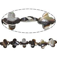 Turbanschnecken Perle, Blume, 13x4mm, Bohrung:ca. 1mm, Länge:ca. 16 ZollInch, 5SträngeStrang/Menge, verkauft von Menge