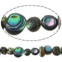 Seeohr Muschelperlen, 2-6.5x5-7.5x2-6.5mm, Bohrung:ca. 1mm, Länge:ca. 16 ZollInch, 5SträngeStrang/Menge, ca. 102PCs/Strang, verkauft von Menge