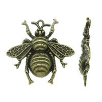 Zinklegierung Tier Anhänger, Biene, antike Bronzefarbe plattiert, frei von Nickel, Blei & Kadmium, 40x38mm, Bohrung:ca. 1-3mm, 200PCs/Menge, verkauft von Menge